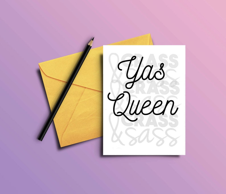 Yas Queen Card Feminist Card Yas Kween Cards Printable image 0
