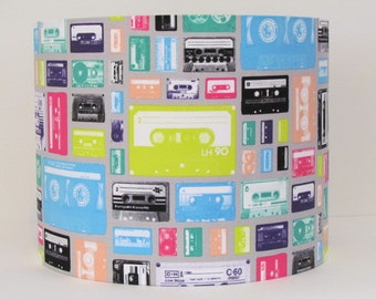 Handmade Lampshade Retro 80s Pop Art Style Music Cassette Geekly Chic 20cm 25cm 30cm Lightshade Novelty