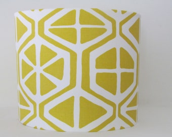 NEW Handmade Citrus Lemon Geometric Modern Vintage 50's Inspired Statement Lightshade Lampshade