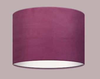 Handmade Plain Claret Burgundy Velvet Lampshade Lightshade Statement Luxurious