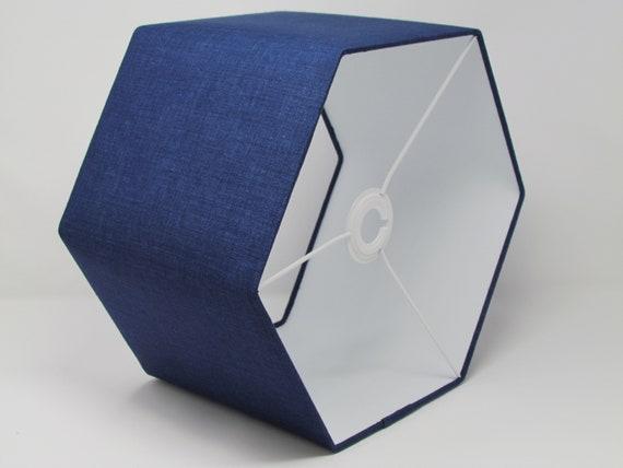 Hexagonal Textured 100/% Linen Mauve Fabric Lampshade Ceiling Shade