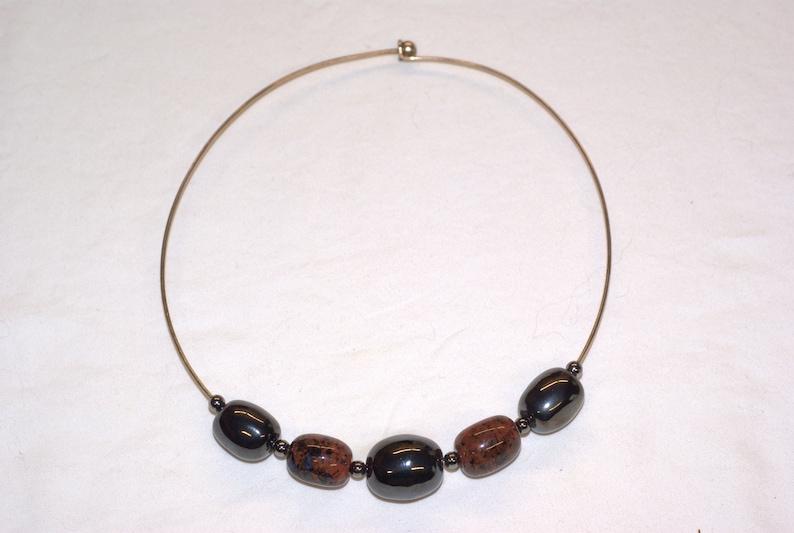 Kazuri Ceramic Bead Choker Necklace
