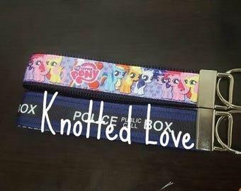 Purple hearts My Little Pony MLP Key fob / key chain