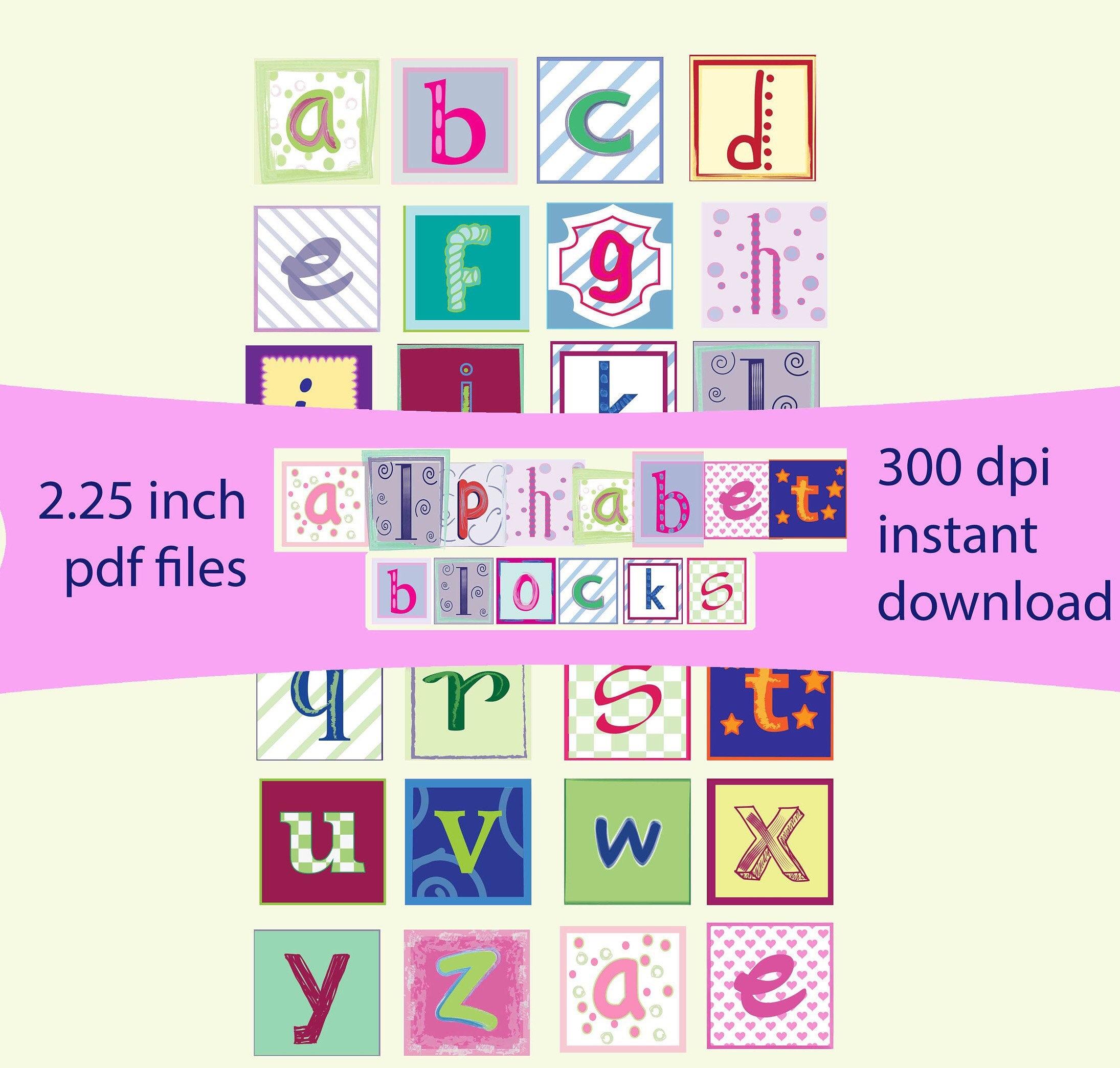 PDF 2.25 Baby Block Letters Alphabet Clip Art | Etsy