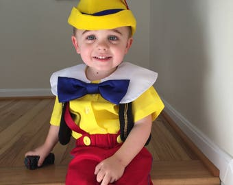 b3a78c0c7 Pinocchio Inspired Costume, for Toddlers, Kids, Teens and Adults