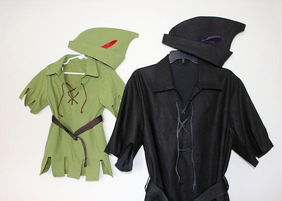 & Peter Pan Adult and Teens Shadow Costume Black Peter Pan