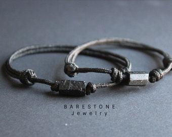 EMF Bracelet/Ultime Proteccion /Grounding stone/Raw Black Tourmaline Bracelet, EMF Bracelet/Valentines Day Gift Bracelet For Men