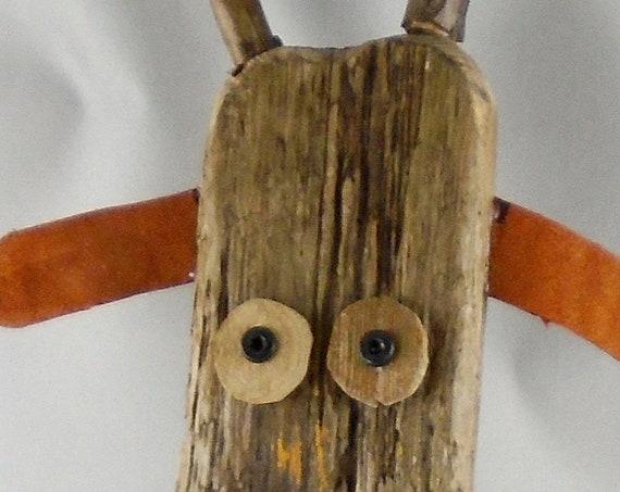 Folk Art Driftwood Deer - Rudolph