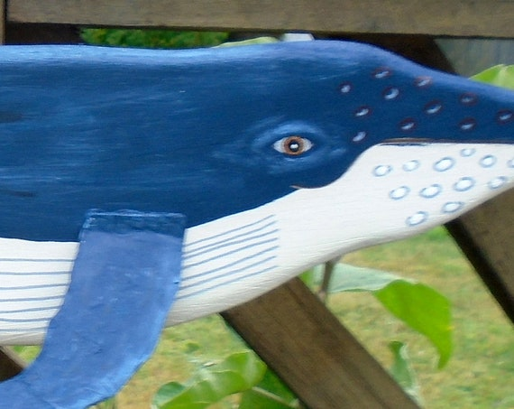 Humpback Whale! Folk Art Recycled wood 24 inches