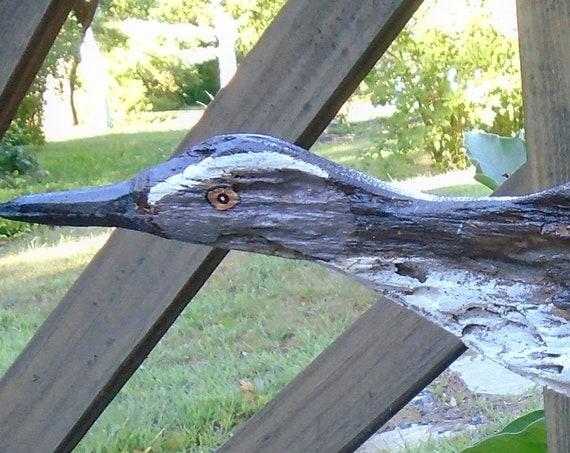 Driftwood Seabird mounted on driftwood