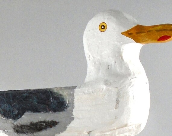 Rustic Driftwood Seagull on driftwood base