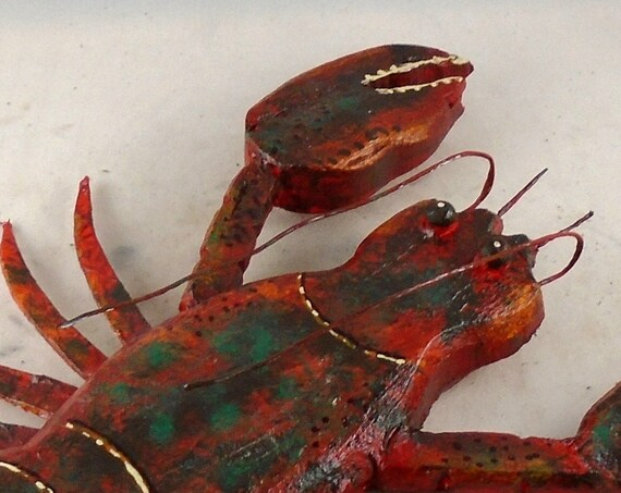 Folk Art Driftwood Lobster!