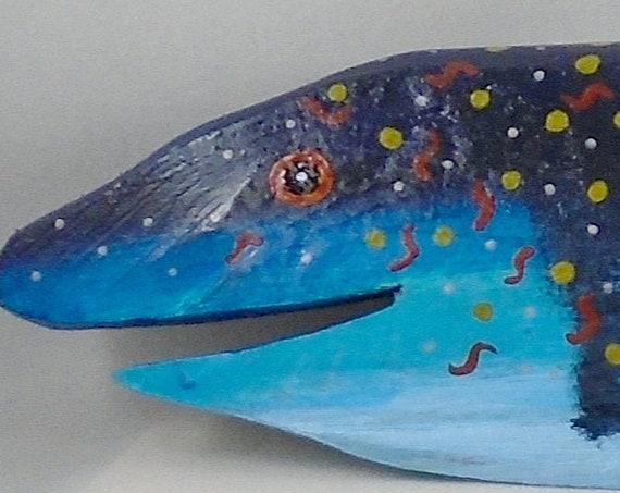 Folk Art DRIFTWOOD fish 15 inches