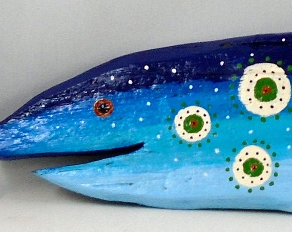 Folk Art DRIFTWOOD fish 15 inches