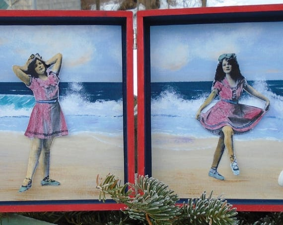 Victorian Bathing Beauties (Cigar Box paper dolls)