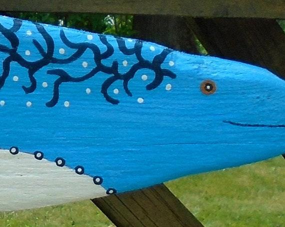 Rustic Driftwood folk art fish (24 inches)