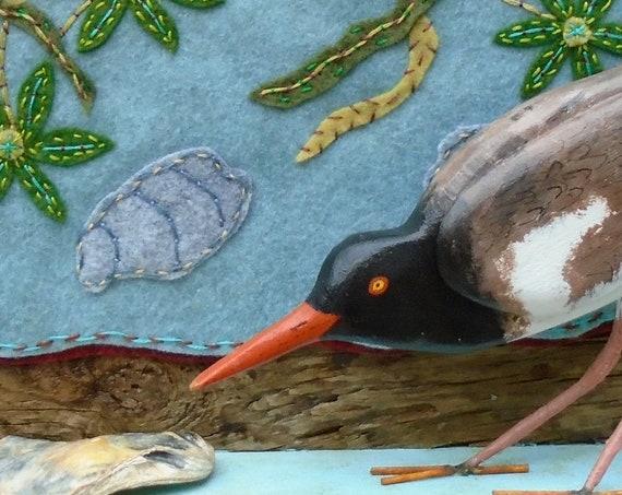 American Oystercatcher folk art