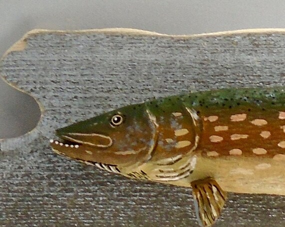Folk Art Northern Pike wall art