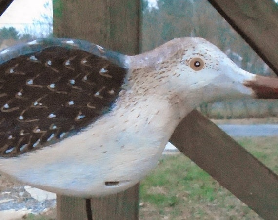 Folk Art Driftwood Shorebird