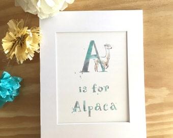 A: Alpaca - Kid's Room - Wall Art