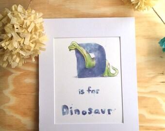 D: Dinosaur - Kid's Room - Wall Art