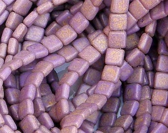 CzechMate Tile PS1004 2 Hole Bead, Pacifica Tangerine 25 count
