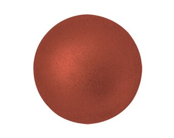Czech Bead, 00030-01750 5x5 mm Ilos par Puca Bead 10 grams Bronze Red Matte