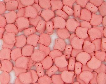 Bondeli Matte Mint GNK-02010-92928 2 Hole Bead, 30 count 7.5 mm Ginko Bead