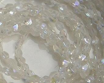 Pinch Bead, Crystal AB, 50 ct, 5 x 3 mm, (00030-28701)