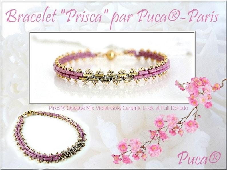 5 x 3 x 2 mm, 10 grams 03000-14413 Piros\u00ae par Puca\u00ae 2-Hole Opaque Beige Ceramic Look Paris Bead
