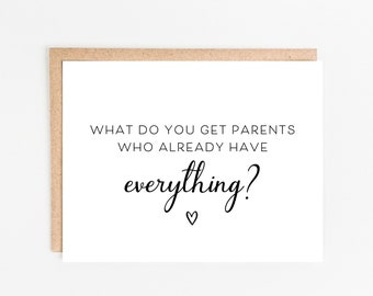 Pregnancy Announcement Card   Funny Pregnancy Card   Pregnancy Reveal Card   You're Going To Be Grandparents   Parents Who Have Everything