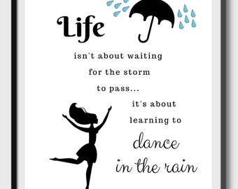 Quote About Rain Etsy