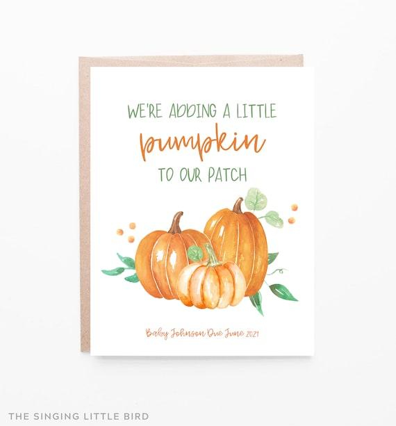 Fall Pregnancy Announcement card / Pumpkin Pregnancy