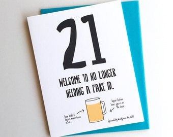 Funny 21st Birthday Card
