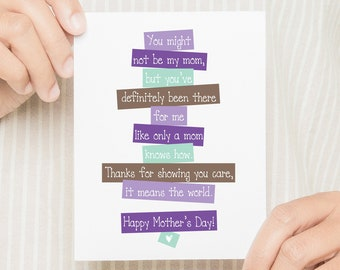 MFGC026 // Been there Like a Mom // Card for the Aunt/Friend/Mentor/Like-A-Mom Person in your Life // Mother's Day Card for Like A Mom