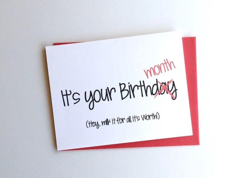 Funny Birthday Card Its Your Month Milk It