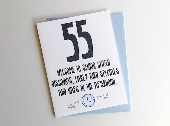 Lustige Geburtstagskarte 55. / / 55. Geburtstagskarte / / | Etsy