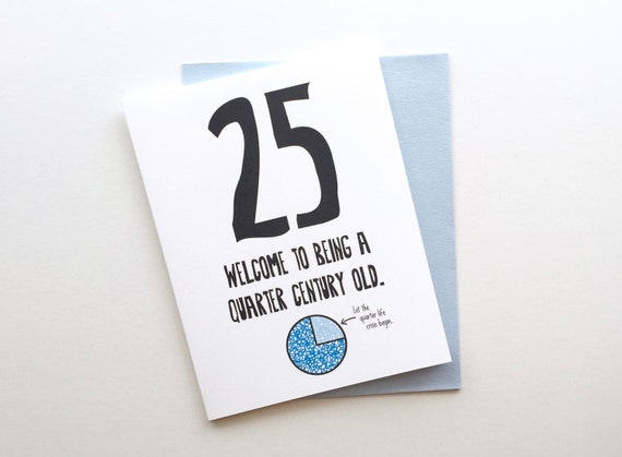 Funny Honest 25th Birthday Card