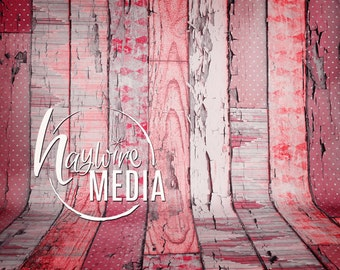Old Pink Wood Photography Background Backdrop Texture - Instant Digital Download