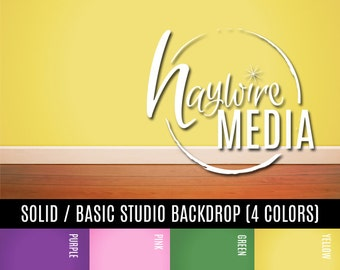 Basic Wood Floor Wall Studio Photography Digital Backdrop in 4 Background Colors