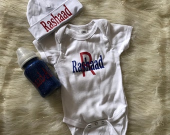 Customized infant sets perfect for a baby shower gift