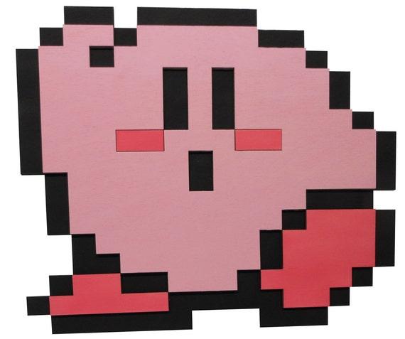 8 Bit Kirby\'s Adventure Dream Land Kirby Wall Art Video   Etsy