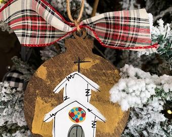 christmas ornament, church ornament