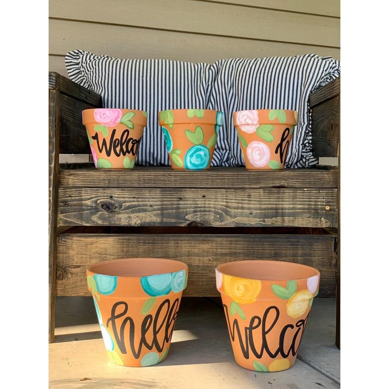 terra cotta planter mothers day gift teacher gift image 0