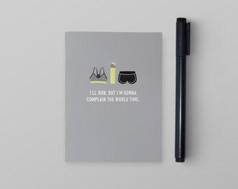 I'll Run Pocket Notebook | Pocket Notebook | Funny Notebook | Small Notebook | Funny Stationery | Funny Gift | Funny Journal
