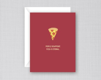 Pizza Card | Funny Pizza Card | Pizza Birthday Card