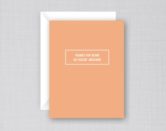 Funny Thank You Card | Awesome Thanks Card