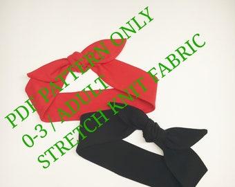 Headwrap pdf sewing pattern, headband pdf Pattern,Baby headband PDF Pattern,Headwrap Pattern,Top knot,Easy Pattern,Headwrap PDF