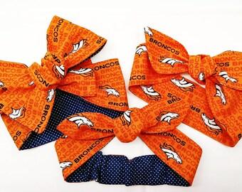 Denver Broncos Headwrap,Broncos Football Headwrap,Denver Big Bow headwrap,Infant Headband,Denver Baby Girl Headwrap,Hair accessories,Ne