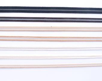 "1 yard of black/beige/white elastic tape 6-10 mm ( 1/4""- 2/5"") for sandal's buckle"